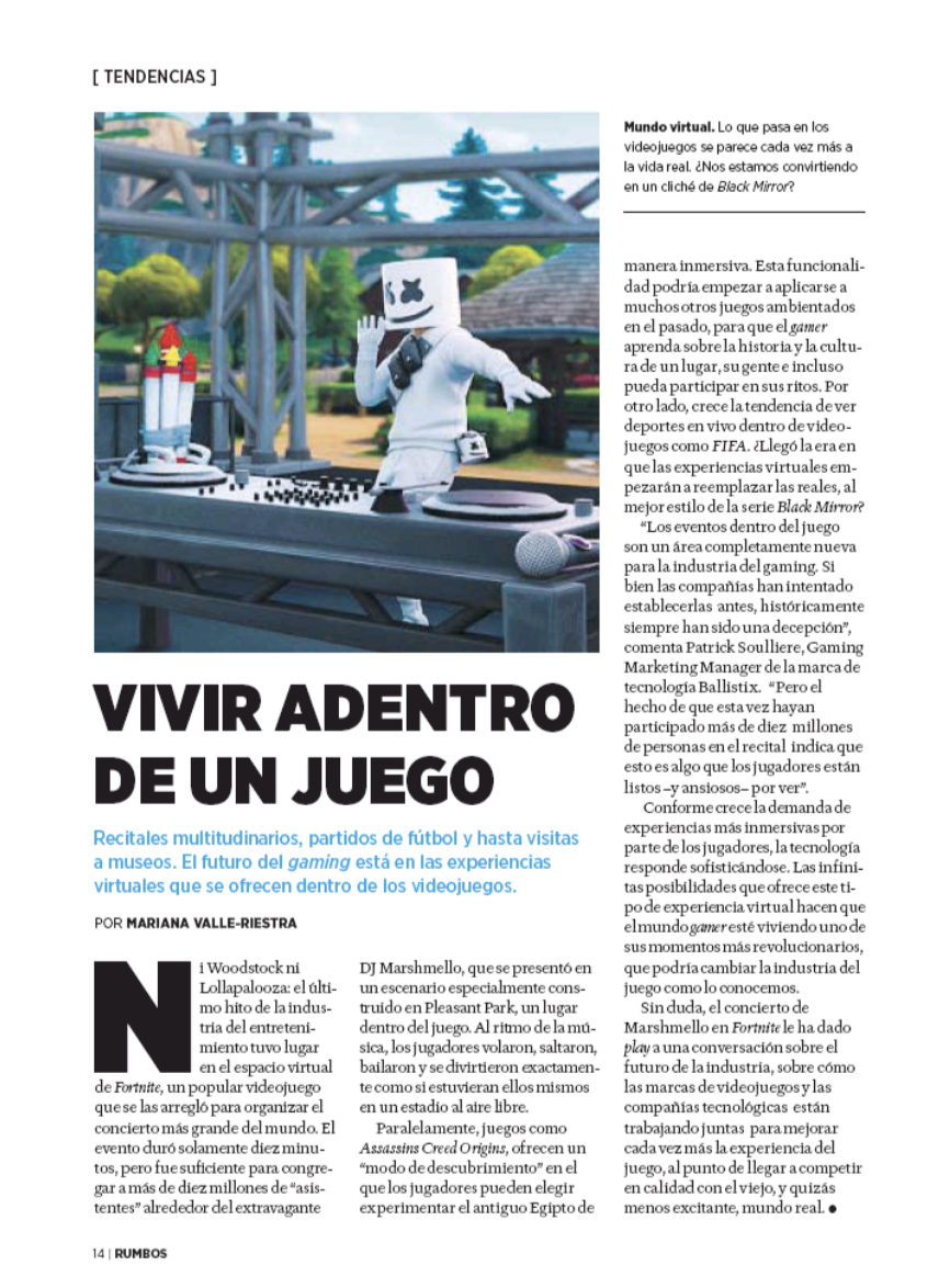 Ballistix on Revista Rumbos