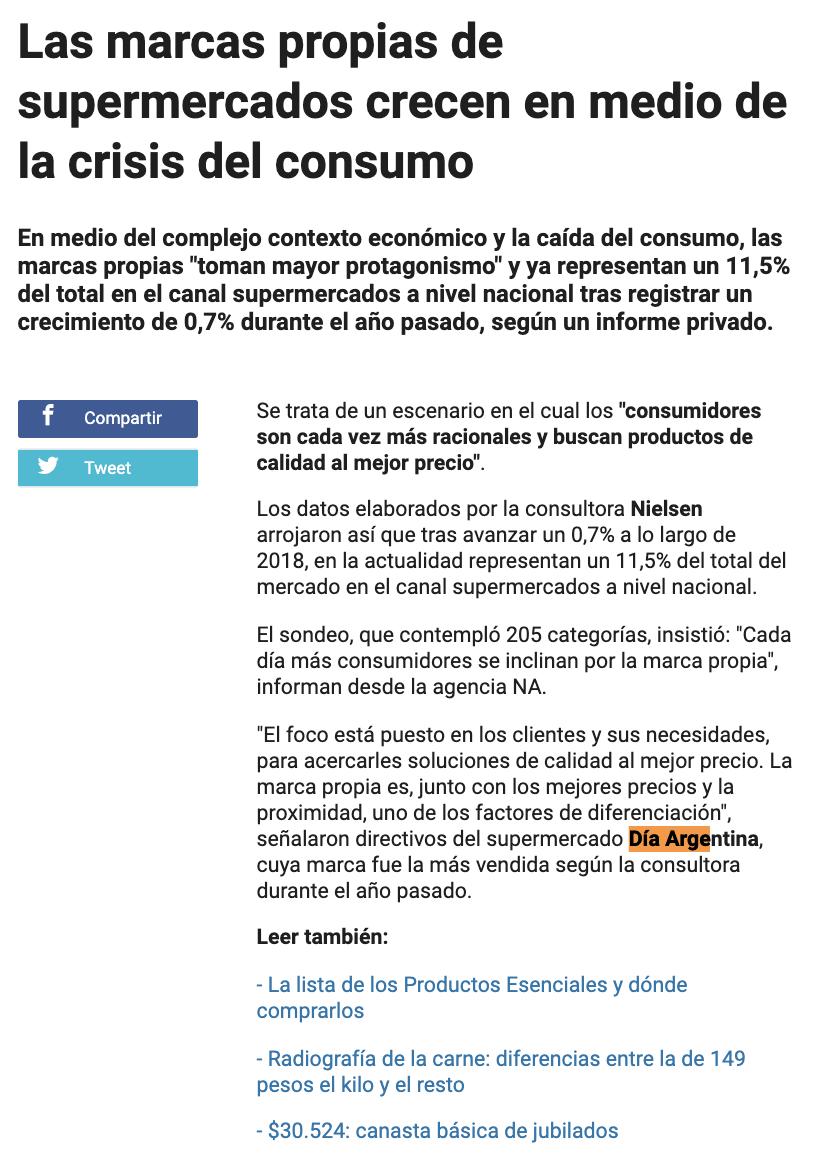 Supemercados DIA on Telefé Noticias