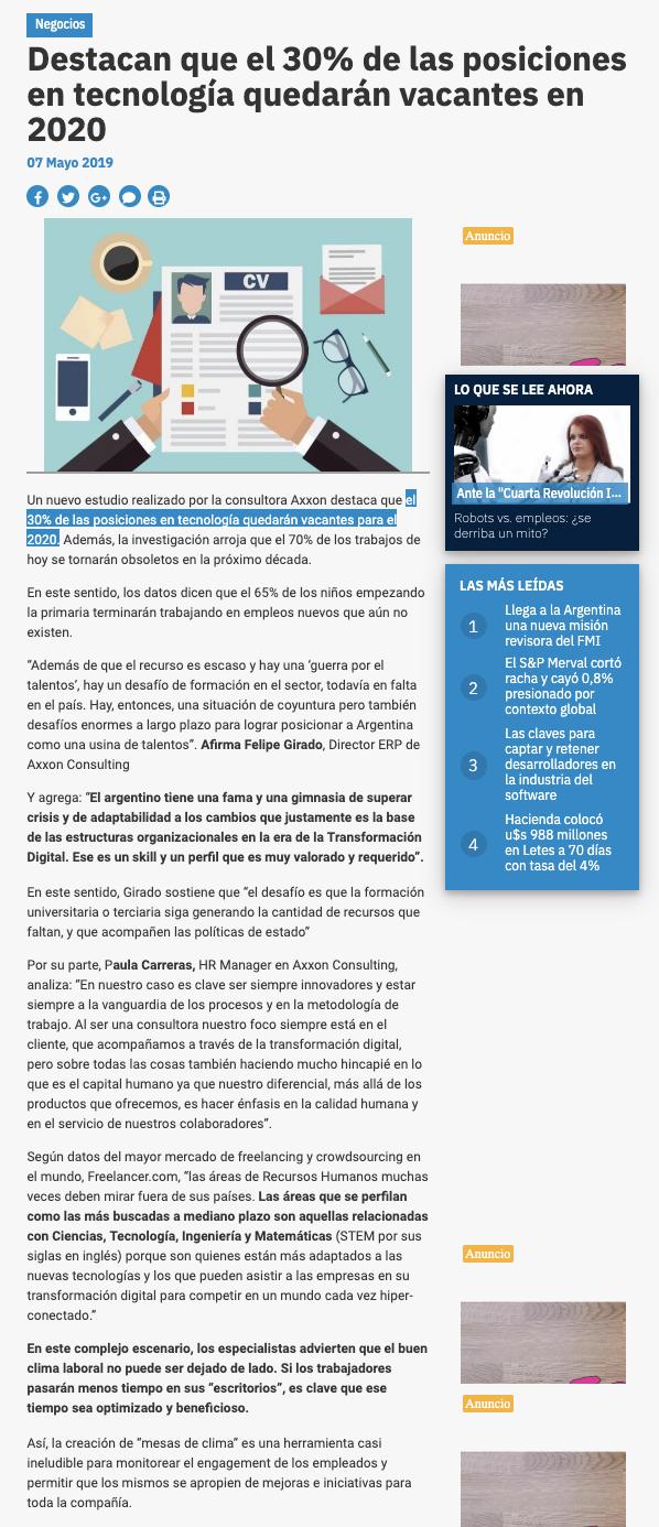 Axxon Consulting en Ambito