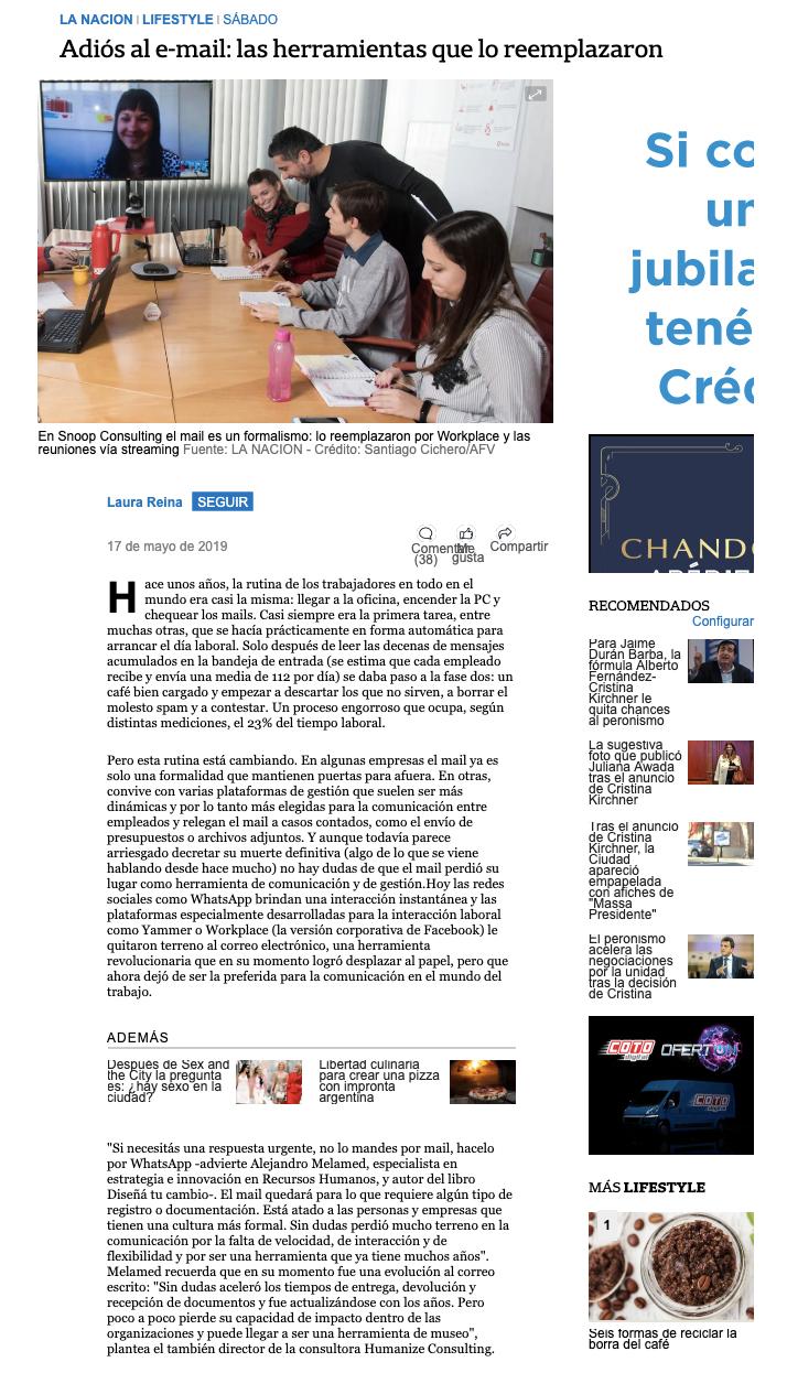 Snoop Consulting on La Nación