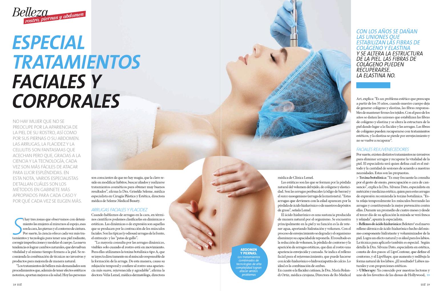 Bioesthetics en Revista Luz
