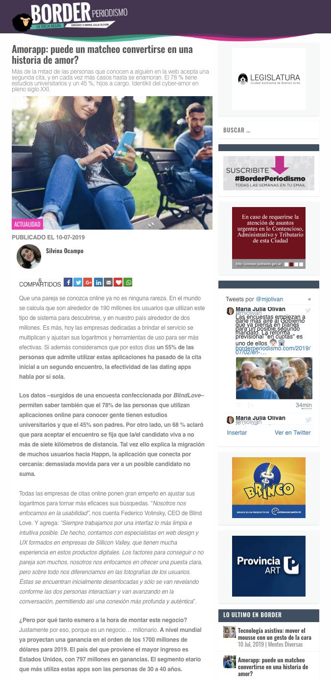 Blind Love en Border Periodismo
