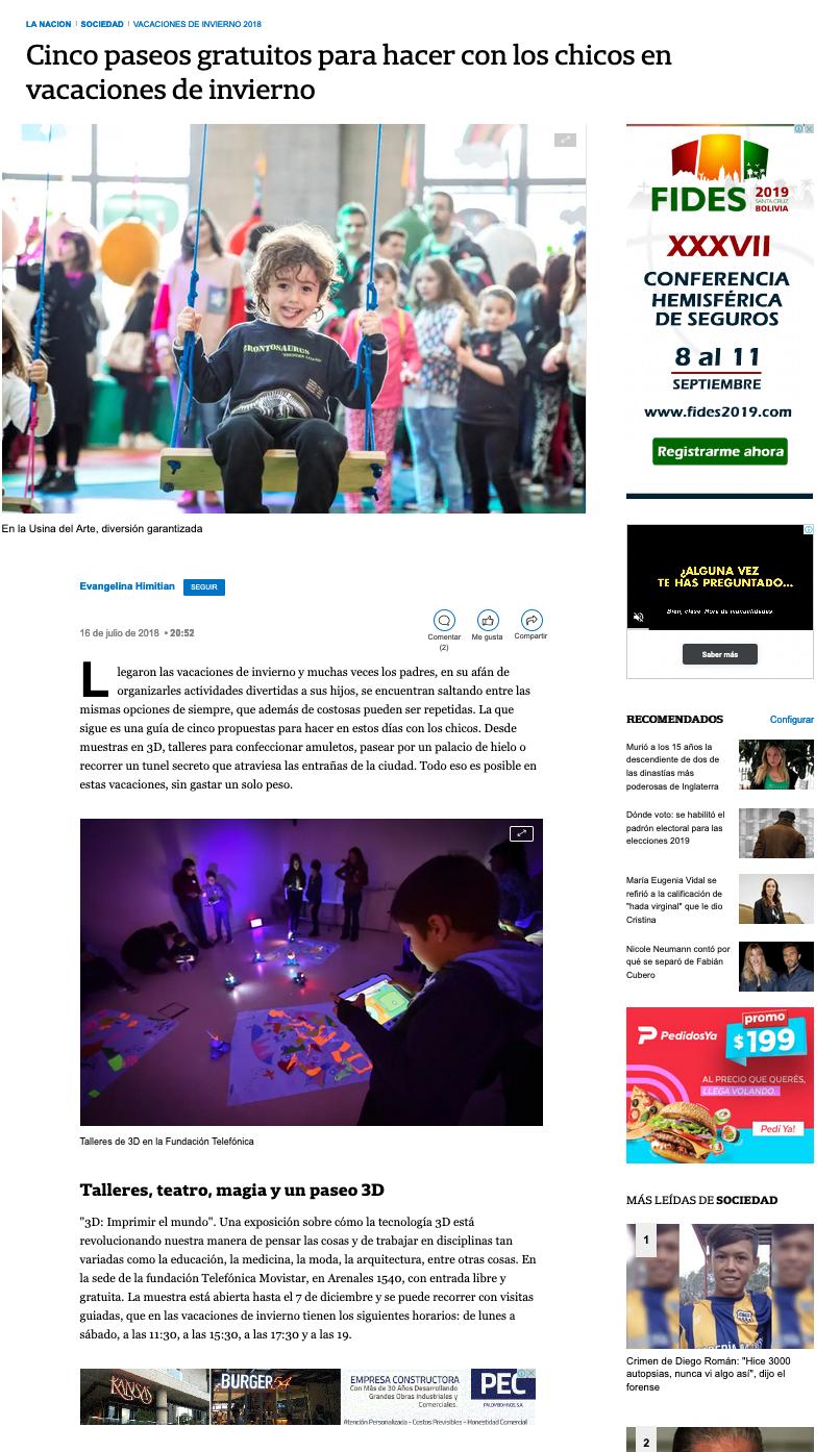 Eventbrite en La Nación