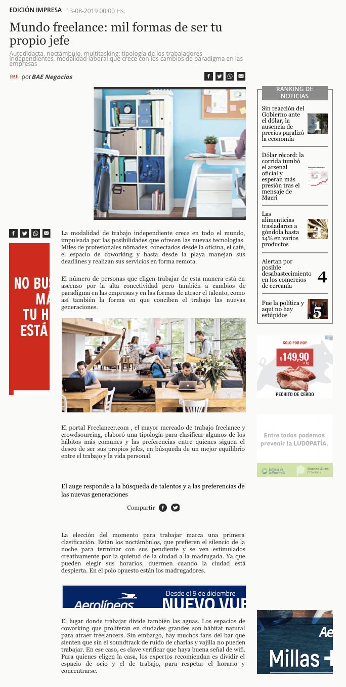 Freelancer on Bae Negocios